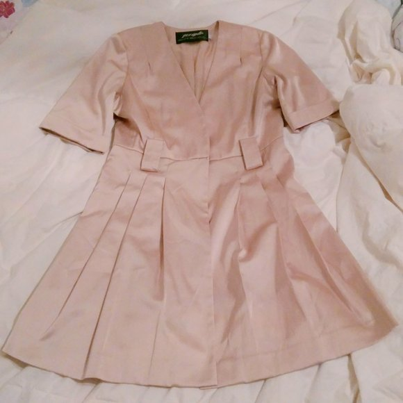 Korea Soft Pink Silky Cardigan Dress